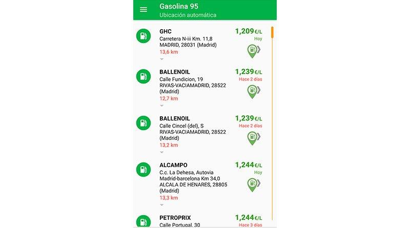App Gasolina y Diesel España