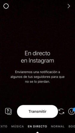Vídeo Directo Instagram