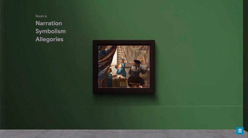 Recorrido por galería de arte