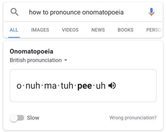 Google Pronunciación