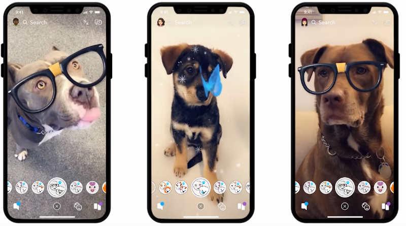 Lentes Perros Snapchat