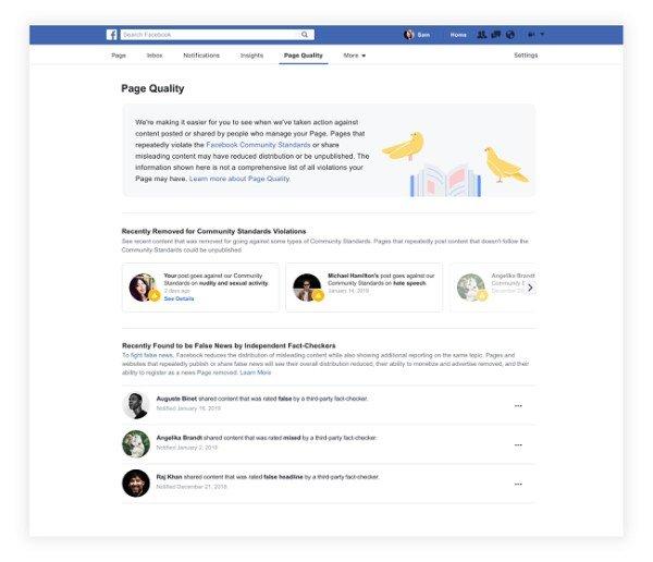Facebook Páginas Calidad