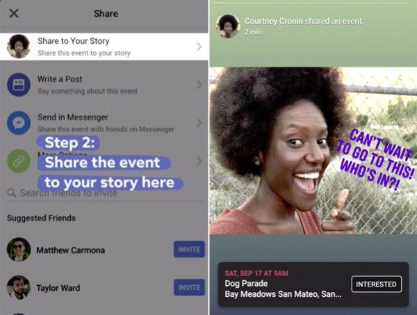 Facebook Stories Eventos