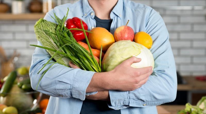 Veganos con verduras
