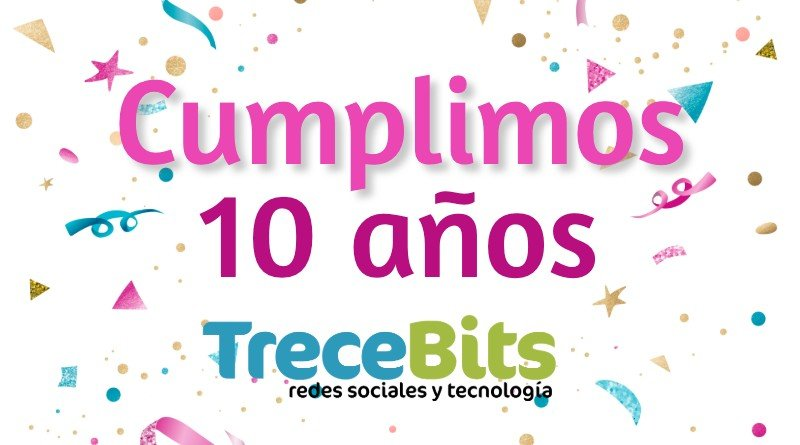 10 años TreceBits rectangular
