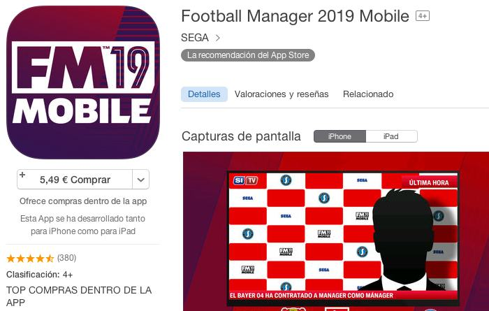 Juego Football Manager