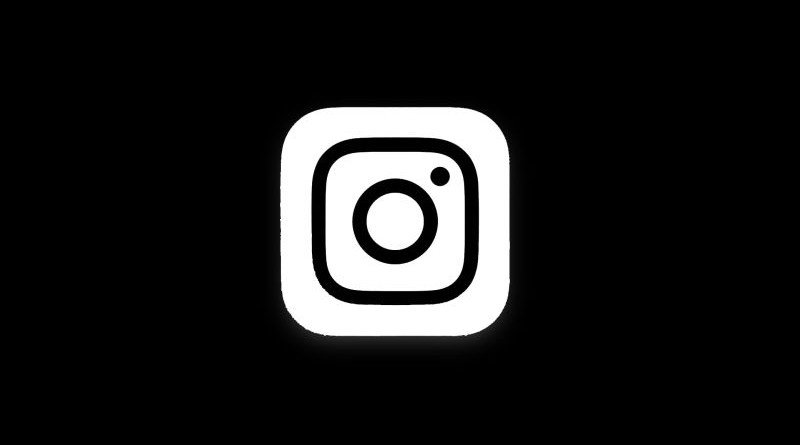 Instagram black logo