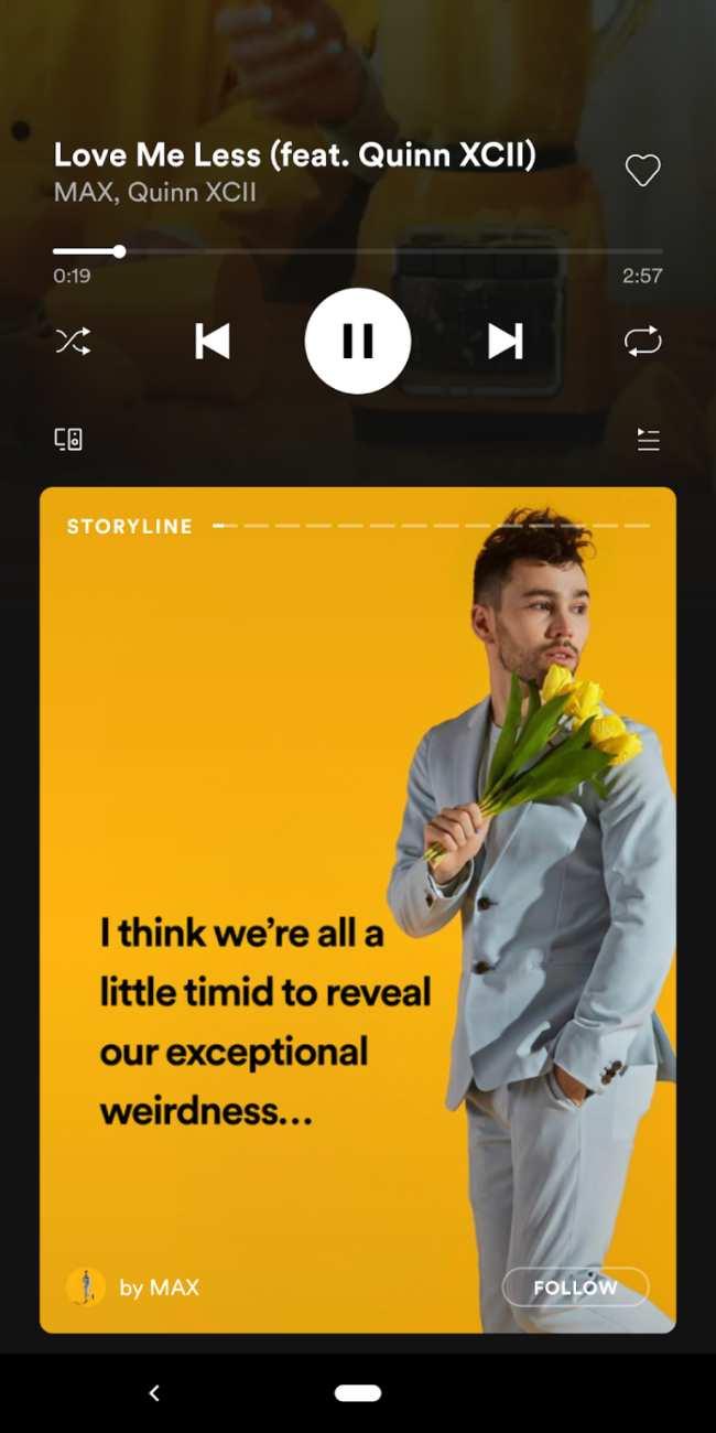 Spotify prueba sus Stories