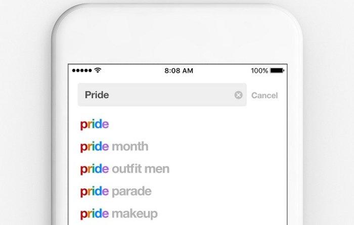 Filtro arcoiris de texto Pinterest