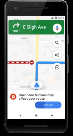 Google Maps Huracán