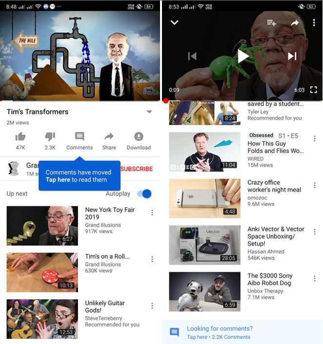 Botón comentarios Youtube