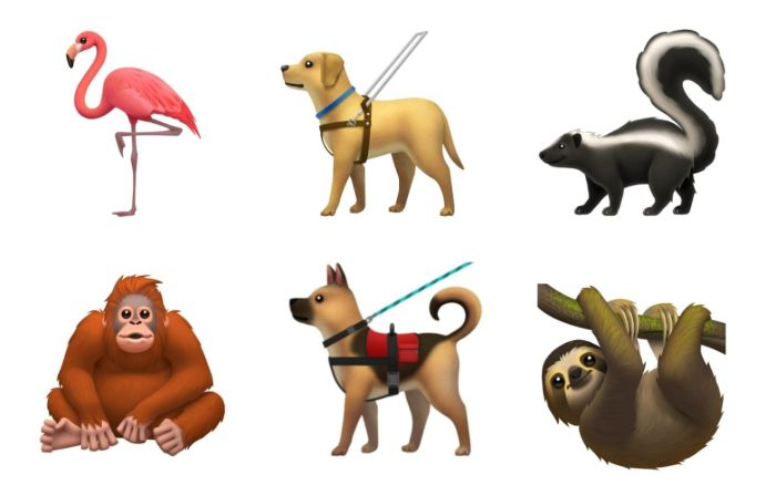 Emojis animales ios 13