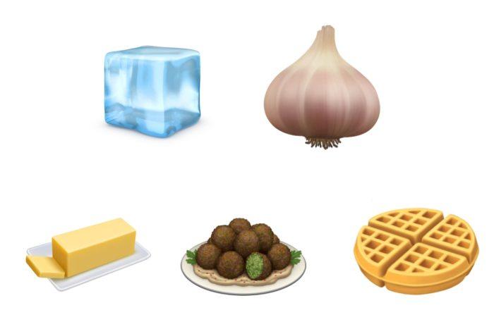 Emojis comida Nuevos ios13