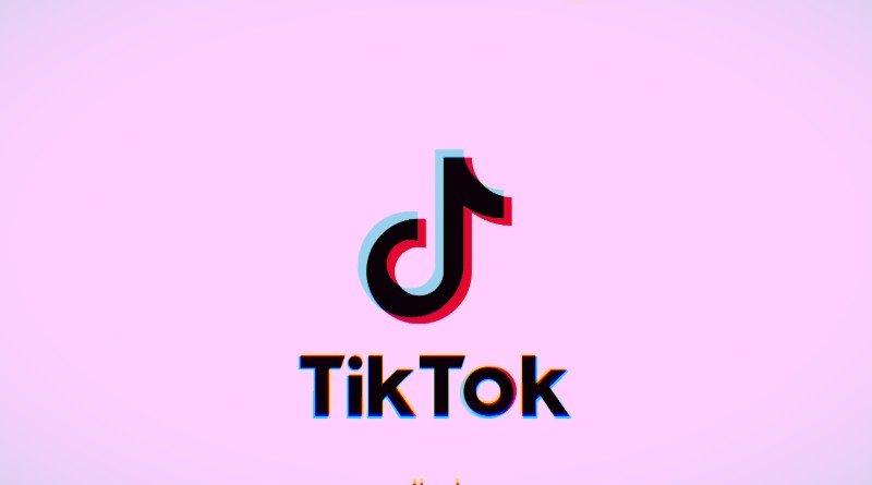 Logo de Tik Tok en Rosa