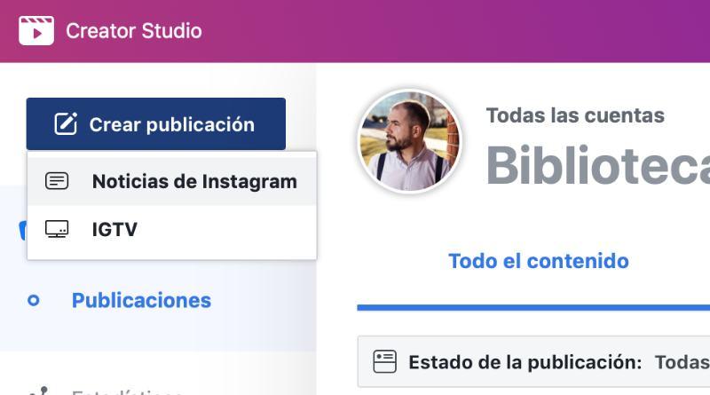Instagram Creator Studio schedule