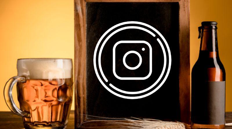 Cerveza con logo de Instagram