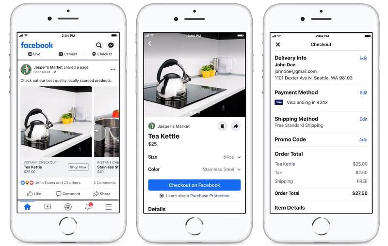 Plataforma de ventas Facebook