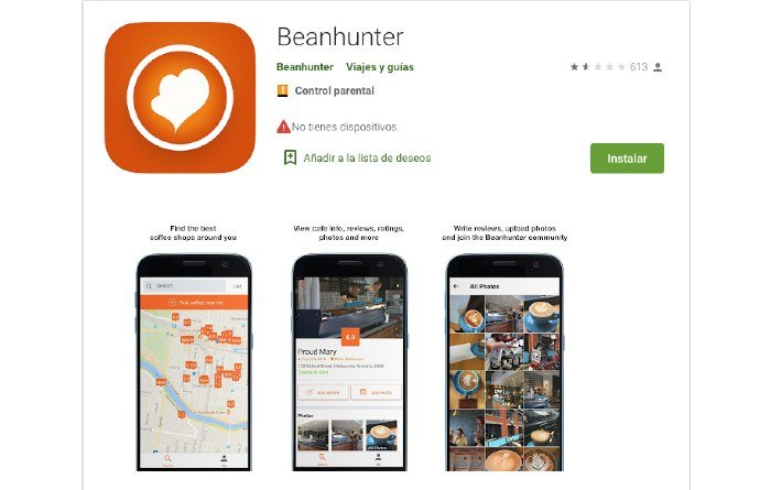 BEANHUNTER app