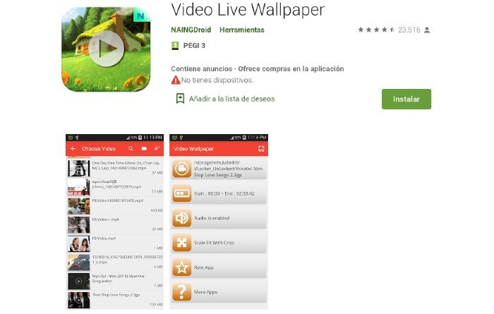 Video Live Wallapaper Android
