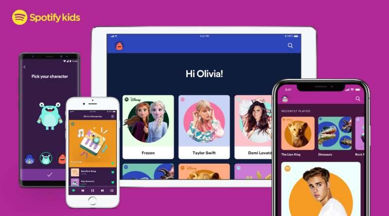 app de Spotify para niños