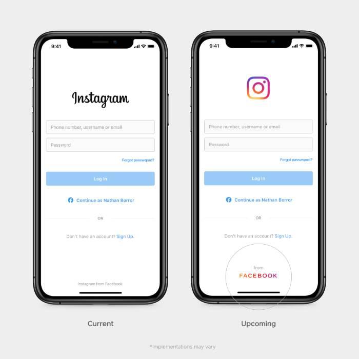 Logo Facebook en Instagram