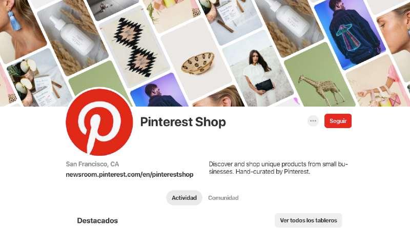 Pinterest shop