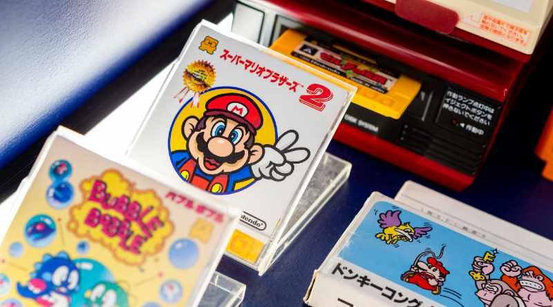 Mario en videojuegos en exposición