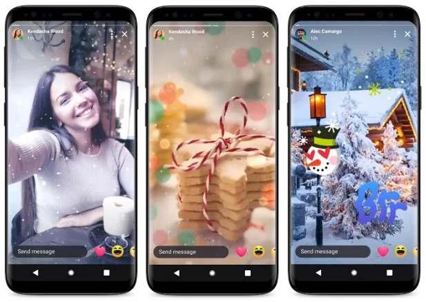 Facebook Messenger Stories Navidad