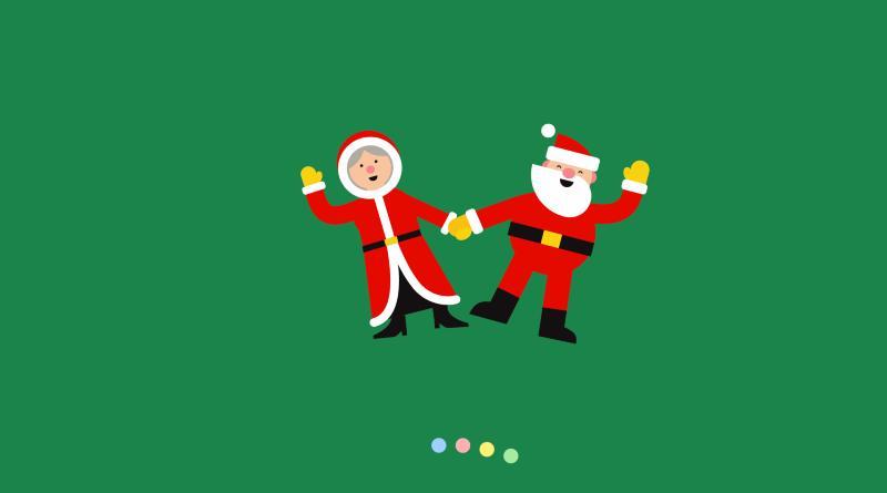 Santa Claus verde
