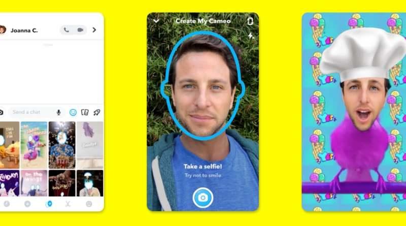 Snapchat función Cameos