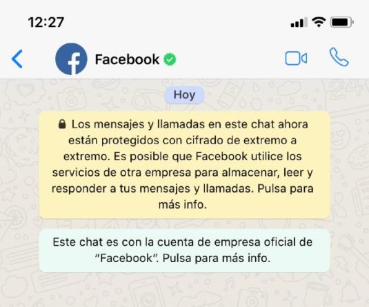 Facebook chat WhatsApp