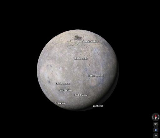 Google Maps permite viajar entre planetas