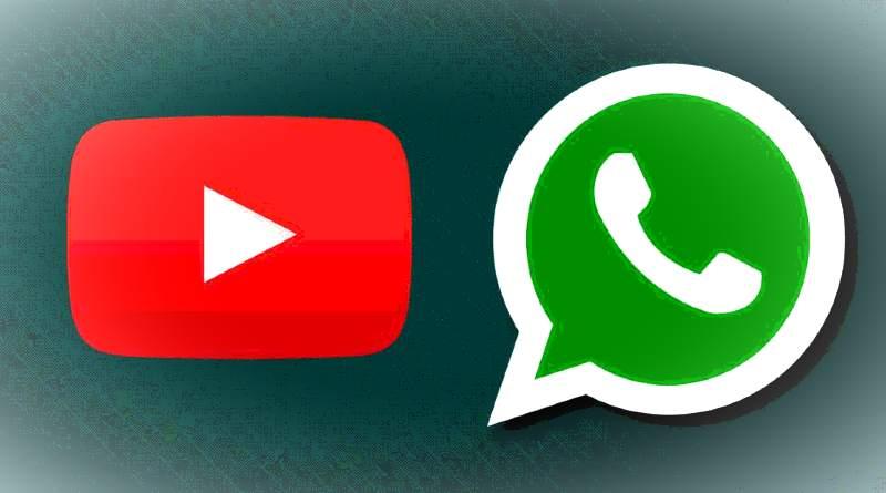 Logo de YouTube y WhatsApp