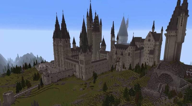 Hogwarts recreado en un mod de Minecraft