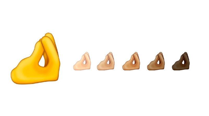 Dedos pellizcados Emojis