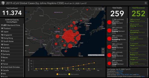 Mapa china coronavirus