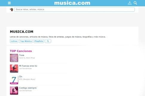 Musica.com canciones letras