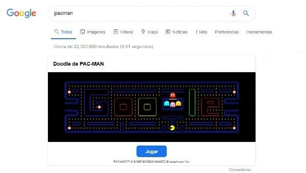 Pacman Google