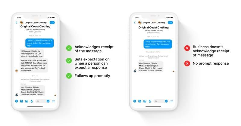 Respuestas rápidas Facebook Messenger