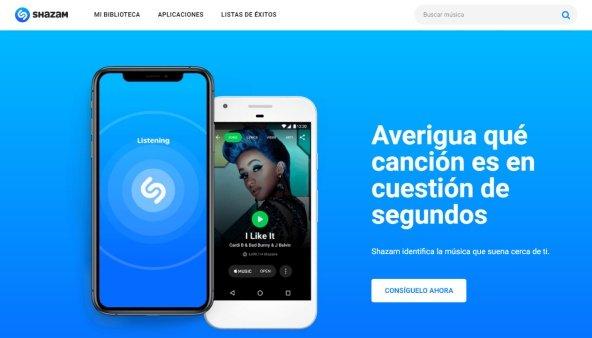 Shazam Web letras de canciones