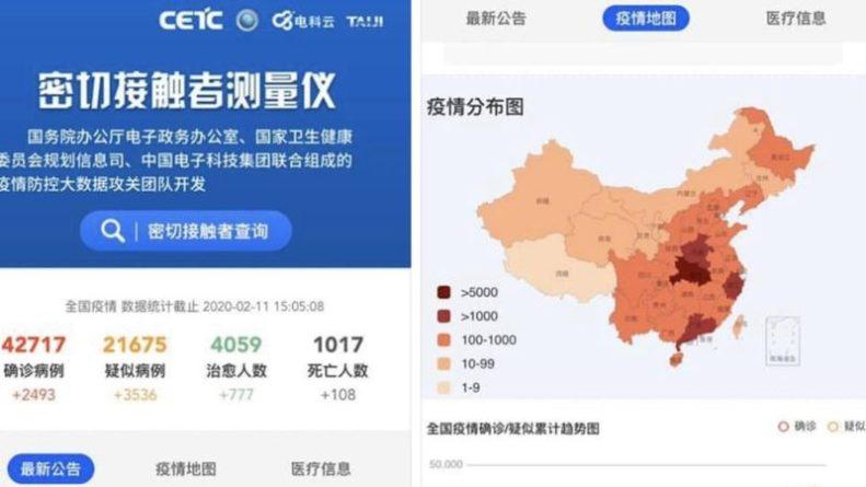 Aplicación china coronavirus