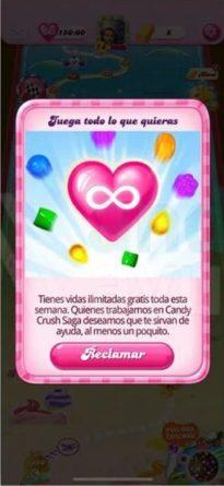 Candy Crush vida infinita