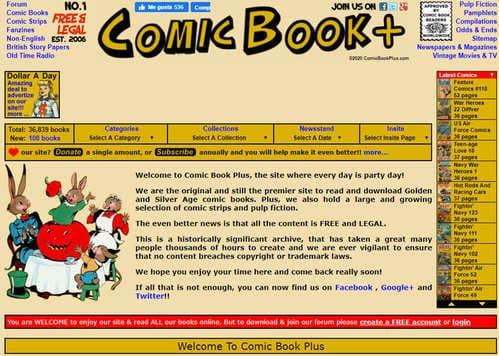 Cómics Digitales en ComicBookPlus
