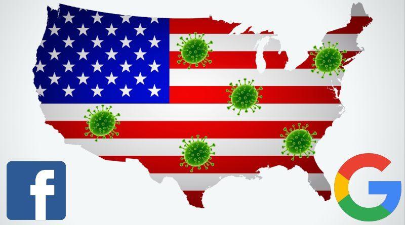 Coronavirus Estados Unidos Google Facebook