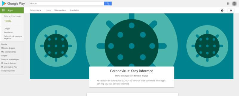 Google Play Coronavirus