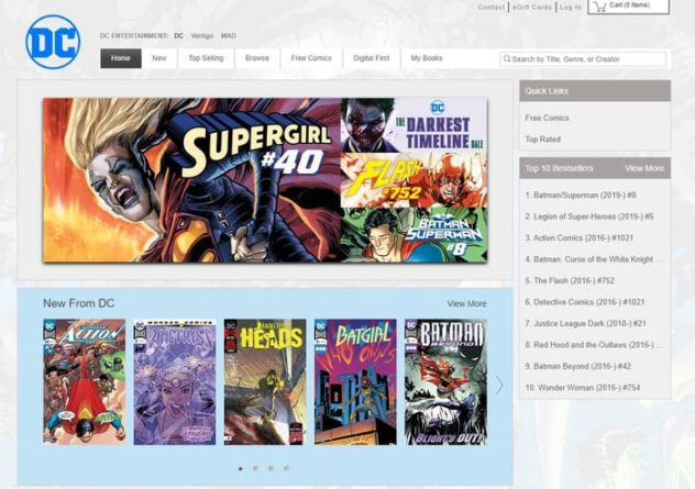 Cómics digitales DC