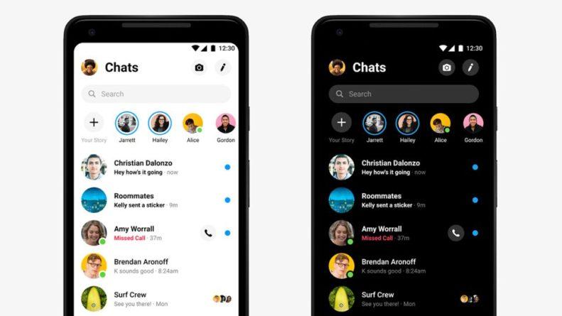 Nuevo diseño de Facebook Messenger