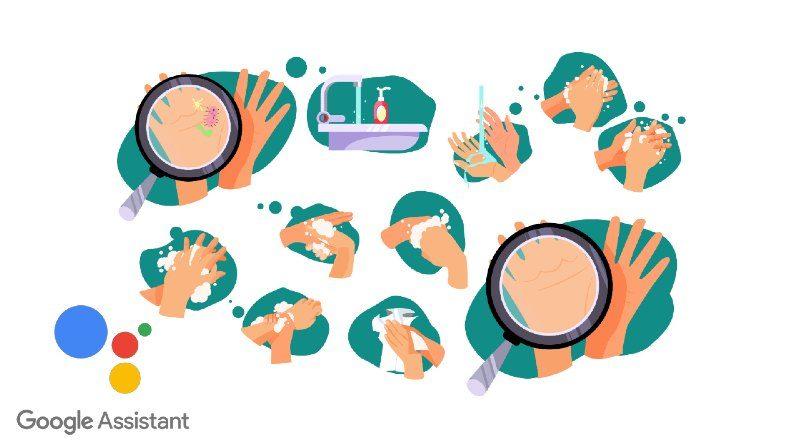 Google Assistant Lavarse las manos