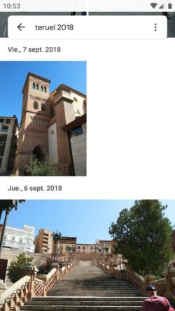 Google Fotos ordenado por fecha