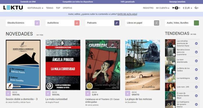Cómics digitales en Lektu